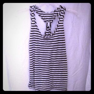 Tops - Black and white t-tank. Size small